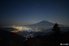 峠からの富士稜線