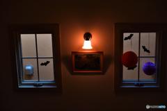 ハロウィンの窓