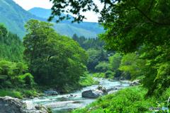 深緑の御岳渓谷