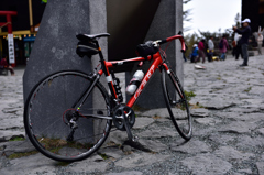 富士の自転車レースに