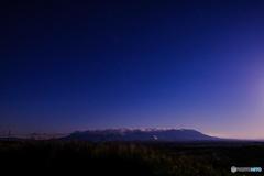 月夜のくじゅう連山