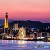 関門海峡の夕景