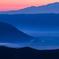 朝靄の阿蘇谷
