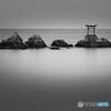 奈多海岸の夜明け(モノクロバージョン)