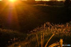 阿蘇北外輪山の夕景 #4