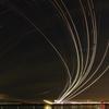 航跡と星空のコラボレーション