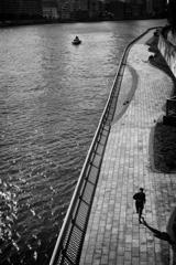 running at riverside