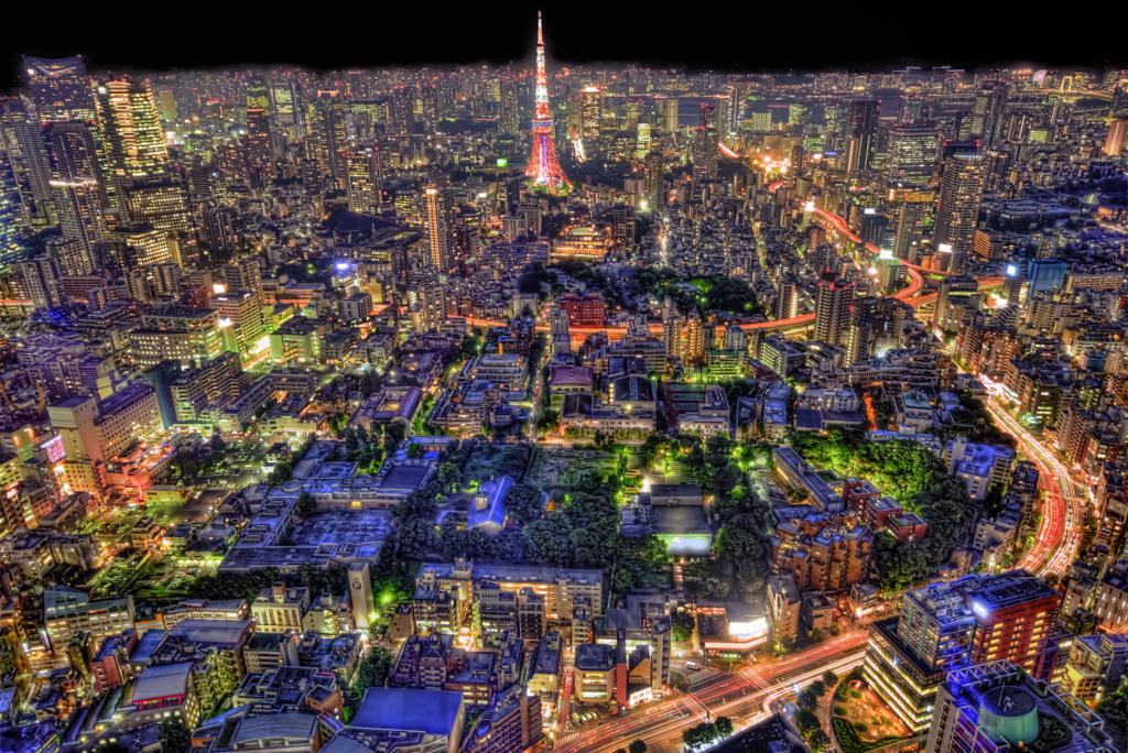 街の灯り 灯明下の印象炎