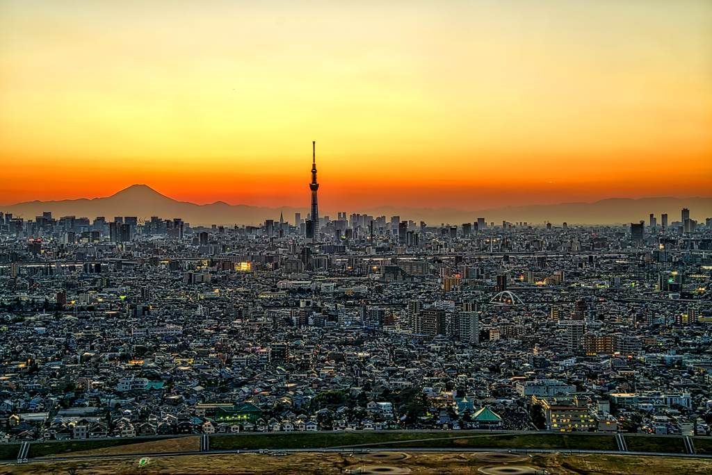 富士夕景色
