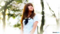 春の光と桜の少女