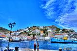 イドラ島の二人 ギリシャ エーゲ海