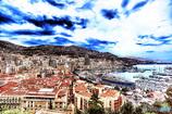 モナコ公国の紺碧の澄空