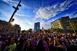 カタルーニャ独立デモの夕べ