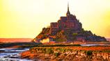 夕刻の聖火(セイヒ) - 聖なる城に火が沈む