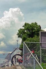 MTBと夏の雲