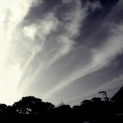 噴き出す雲
