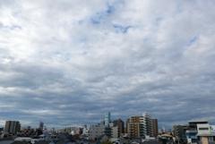 ハルカスと街並みと雲