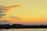 夕景 大和田五丁目にて 雲と富士山
