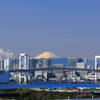 東京山脈と富士山