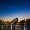 日没後の清洲橋