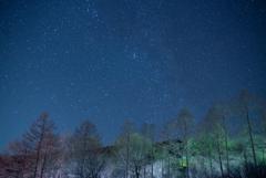 茶臼山の星