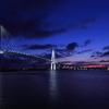 新湊大橋でライトアップ待ち