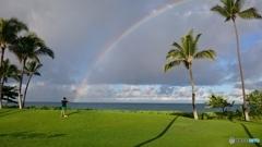 Morning rainbow at Ko'Olina