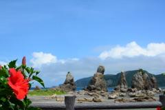 真夏の橋杭岩