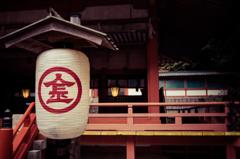 白峰神社。 923段目