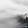 朝霧(雲海)を長時間露光で
