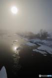 いつもの公園、「雪景色」(1)