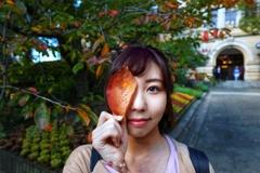 秋の視力測定