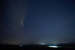 飛行機と流星