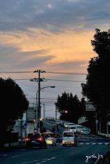 写真句:陸橋の夕暮れ