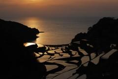 初めての浜野浦の夕陽