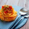 バジルとツナのトマトソースパスタ