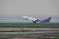 タイ国際航空(HS-TGX)747-407@羽田