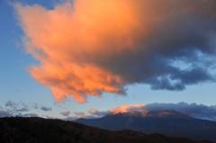 御岳山朝焼け