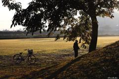 おじーちゃんと自転車