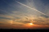 幻日と雲と富士