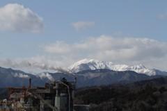 金生山から見た伊吹山