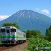 2017.06.17 653㌔の鉄旅(5):残雪残る、蝦夷富士