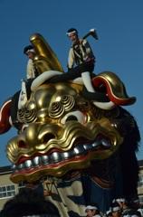 唐津の黄金の獅子