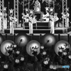 山鹿燈籠踊りをモノクロ-ム