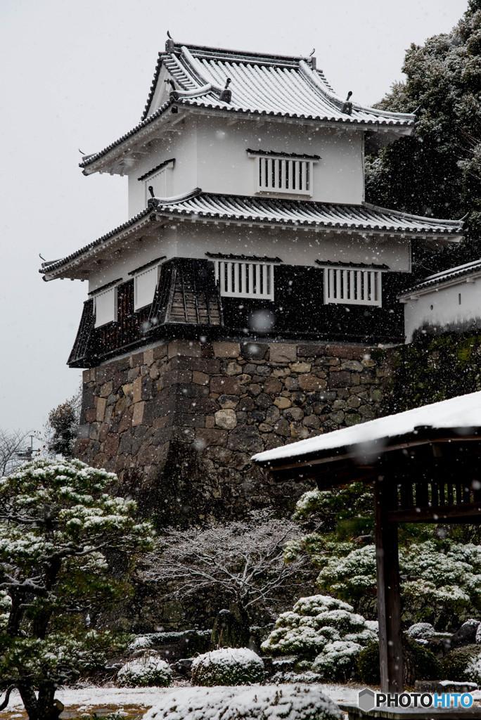 玖島城址に雪
