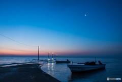 夜明けの桟橋