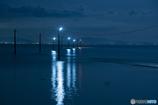 夜の海の輝き