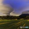 鳴沢村の怪雲