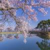 春宴の水鏡にて