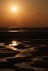 新舞子浜からの初日の出